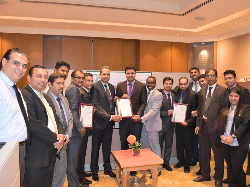 Etihad International Hospitality receiving certificates from URS-ME