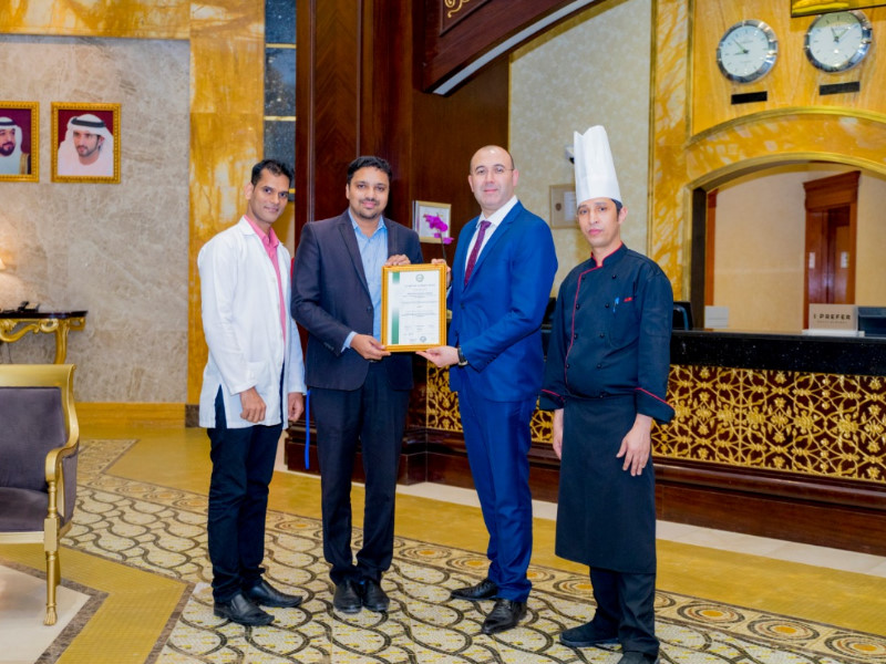 Grand Excelsior Hotel Barsha Dubai awarded HACCP Certification by URS-ME